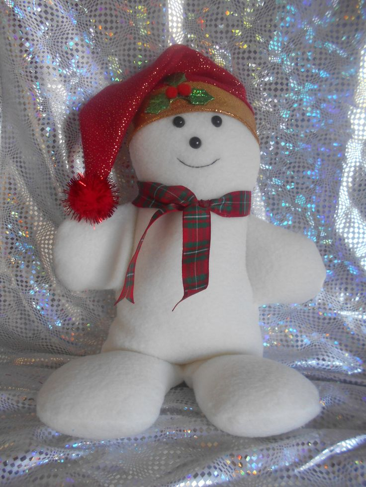 Samuel Snowman Christmas Decoration Soft Toy