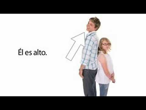 Learn Spanish 1.2 - Personal Descriptions  Lady has bad accent, but lesson well-explained