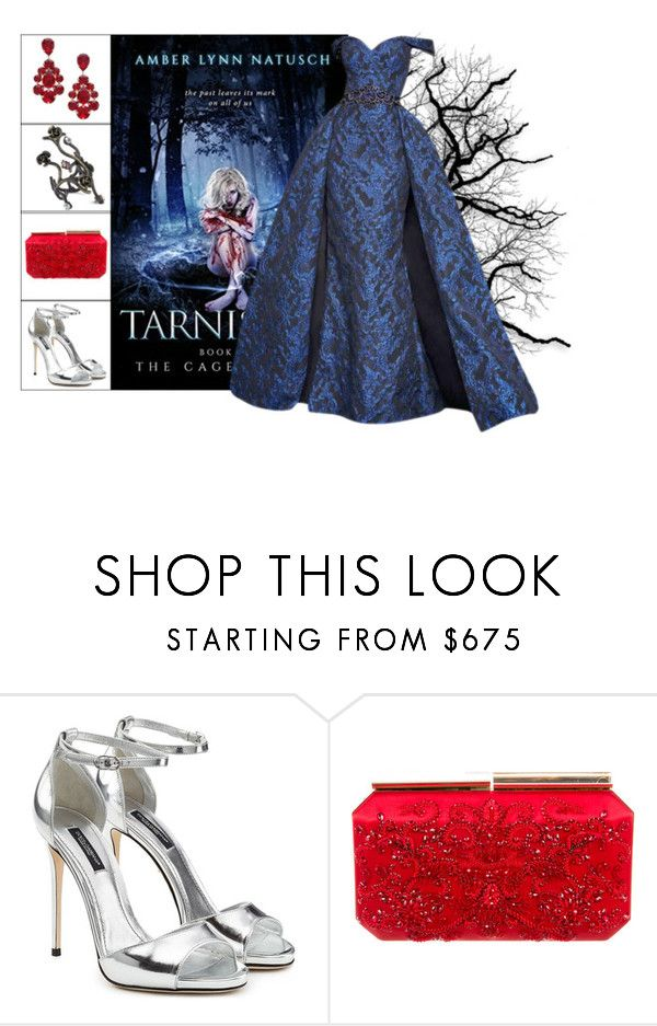 """Book Look: Tarnish By Amber Lynn Natusch"" by xmikky ❤ liked on Polyvore featuring Dolce&Gabbana, GET LOST, Oscar de la Renta, L. Erickson and Joanna Laura Constantine"