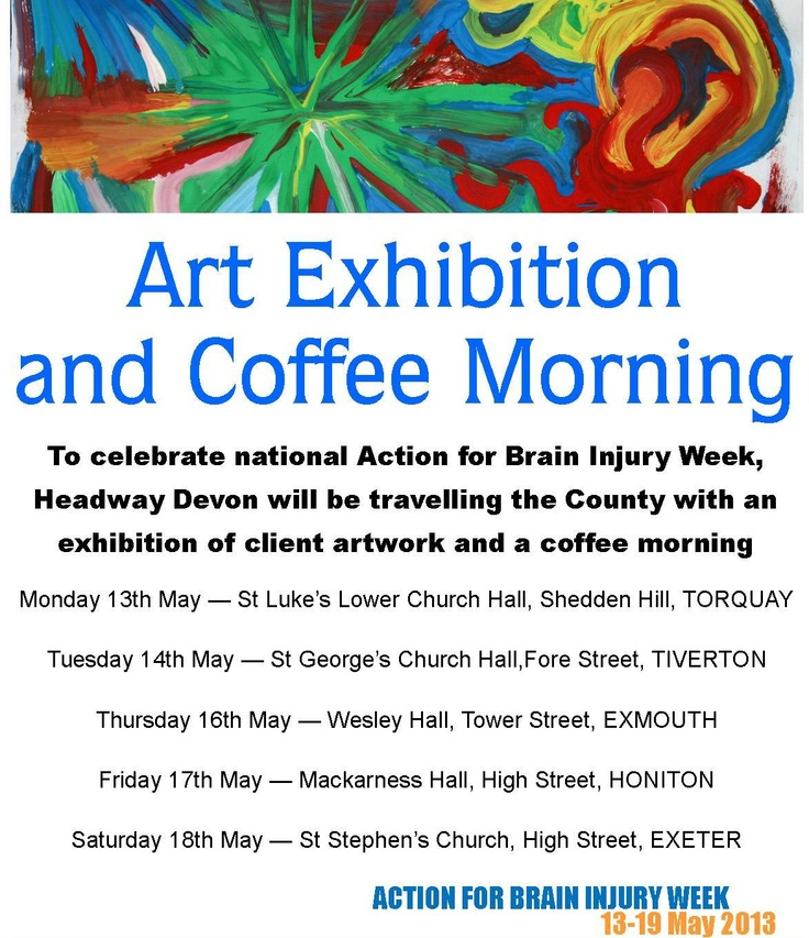 Action for Brain Injury Week 2013 - travelling exhibition and coffee morning