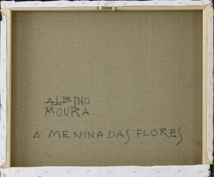 """Lote 6166 - ALBINO MOURA (n.1940) - Original - Pintura a óleo sobre tela, assinada, verso assinado e com indicação do título """"A Menina das Flores"""", com 50x60 cm (grade alta, sem necessidade de moldura). Obra deste autor foi vendida por € 4.500 numa leiloeira em Lisboa. Nota: Albino Moura nasceu em Lisboa, pintor autodidata, recebeu orientação de"""