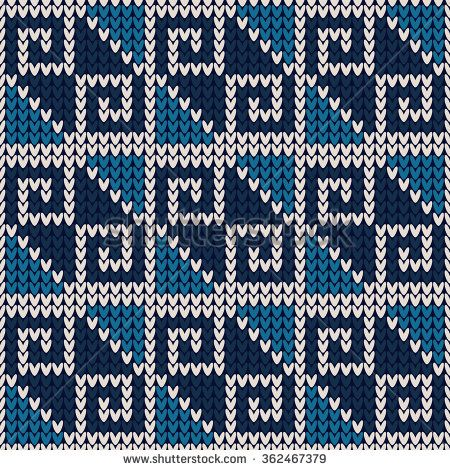 Knitted seamless pattern.