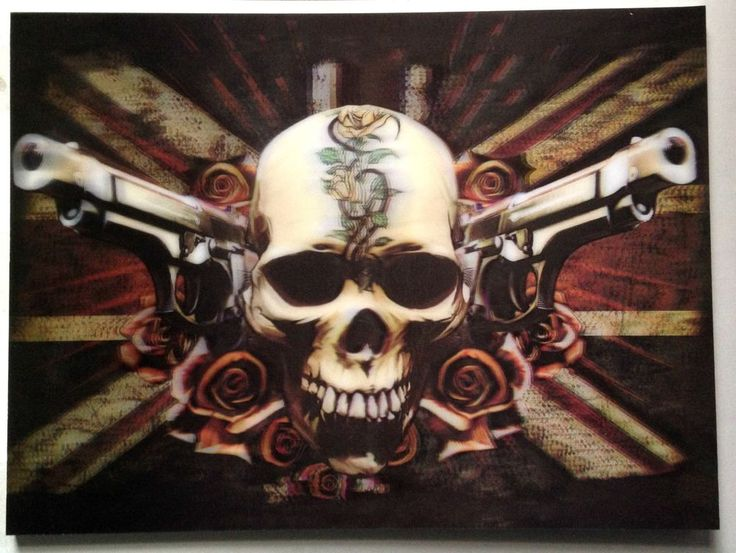 Brand New 3D Picture Wall Art Bullet for My Valentine 30x40cm