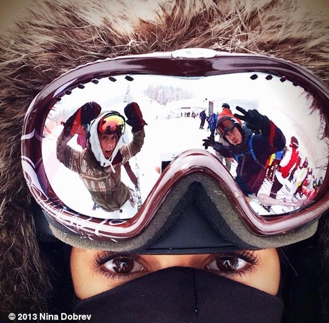 Nina Dobrev Goes Skiing with Derek Hough--See the Pic!
