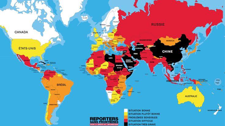 Meno libertà di stampa nel mondo
