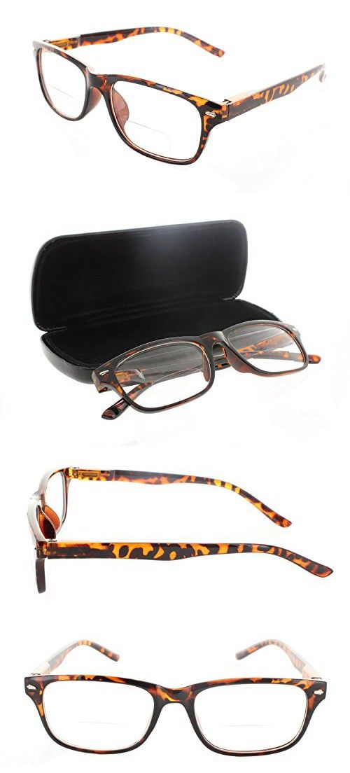 71a15cc8c59 Wayfarer Bifocal Reading Glasses Readers with Spring Hinges for Men and  Women
