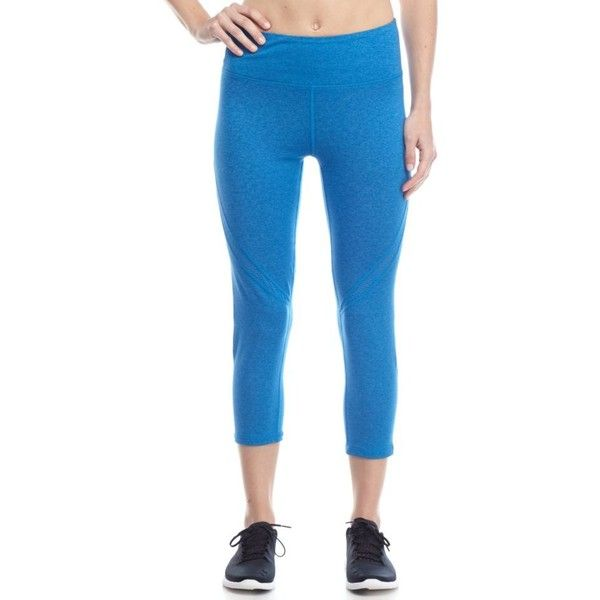 Nanette Nanette Lepore™  Swere Hi Rise Capris ($51) ❤ liked on Polyvore featuring activewear, activewear pants, electric, plus size, nanette lepore, plus size activewear, plus size sportswear and women's plus size activewear