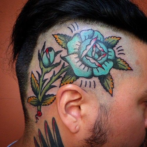 97 best face neck head tattoo images on pinterest head for Full head tattoo