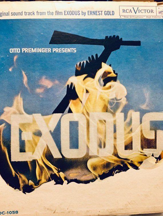 Exodus Original Sound Track From The Film Lp Music Album Etsy Original Sound Track Music Album The Originals