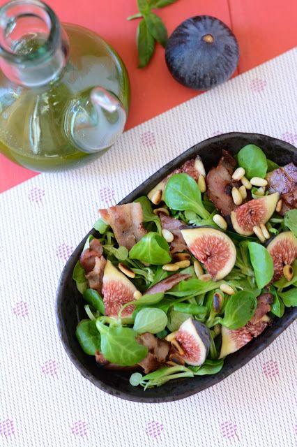 Chic, chic, chocolat...: Salade d'automne aux figues, huile de basilic