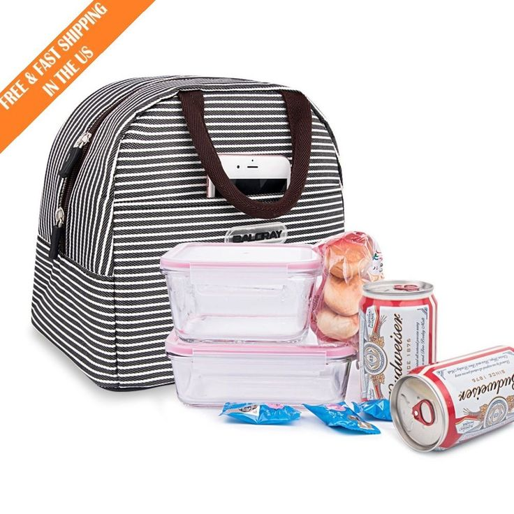 Insulated Lunch Bag Thermal Lunch Box Tote Organizer Picnic Portable Storage #BALORAY
