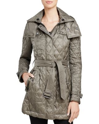 BURBERRY Finsbridge Quilted Coat. #burberry #cloth #coat