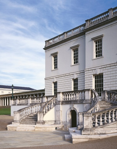 Designed by Inigo Jones in 1617, the Queen's House at Greenwich - Inigo was a Palladian devotee and travelled throughout Italy with the 'Collector' Earl of Arundel, annotating his copy of Palladio's treatise, in 1613–14.