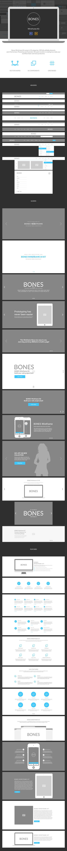 Bones Wireframe Kit #web #webdesign #ui #ux #wireframe #kit #website #photoshop #illustrator #graphics #webelements #bootstrap #blog #store #fashion #ecommerce #grid #portfolio