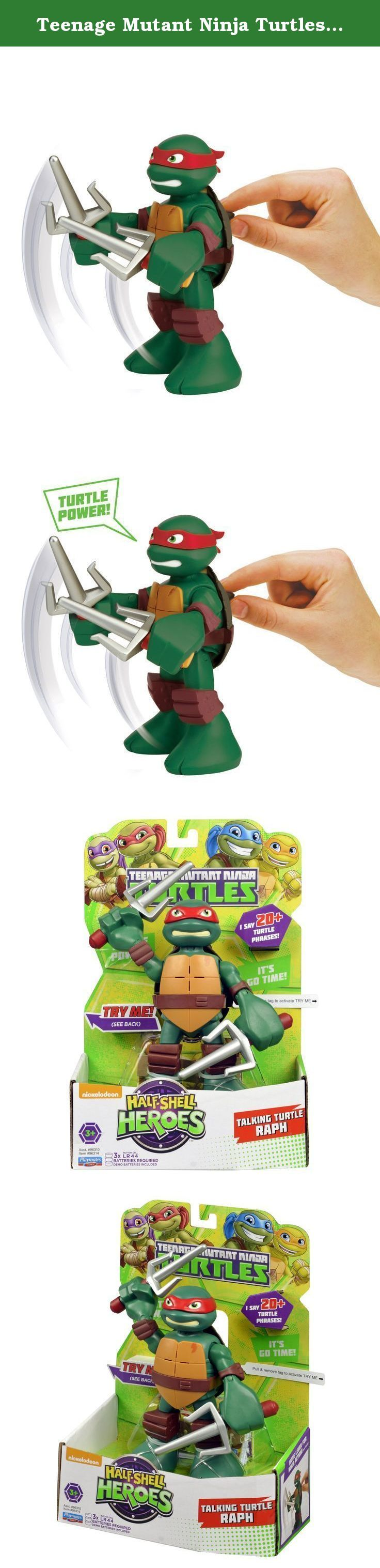 Teenage Mutant Ninja Turtles Pre-Cool Half Shell Heroes 6 Inch Raphael Talking Turtles Figure. Coming out of their shells for the very first time, the Half-Shell Heroes are ready for non-stop ninja adventure! You can join the fun-loving brothers in their pizza-fueled missions as they team up to mess with menacing mutants and stop the Shredder.