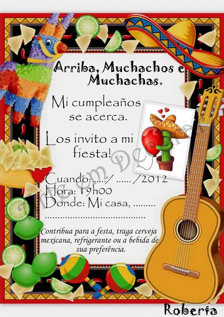 convite para festa mexicana - Pesquisa Google
