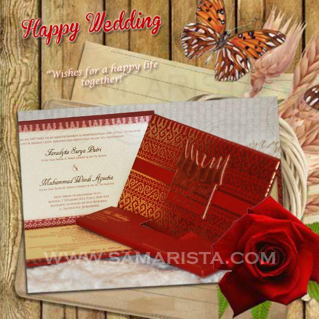Happy Wedding for Wonderfull Couple ❣  ❦ Faradyta Surya Putri & Muhammad Windi Agustia. ~ 07 Desember 2014~  Info & Pemesanan Kartu Undangan Hub : 022-5223378/70706073 Jl. Pasirluyu Timur No. 155-157 Bandung... Cetak Cepat & Rapi, Harga Murah bs disesuaikan dgn budget, Desain dpt dirubah sesuai keinginan..  #kartu #undangan #pernikahan #samarista #wedding #invitation #card #hard #soft #cover #perkawinan #best #seller #cetak #cepat #murah #jasa #pesan #acara #khitanan #brosur #souvenir