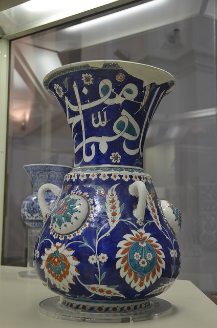 Mosque lamp, Iznik, from Sokollu Mehmet Pasha Mosque, 1570-75 (5) by Prof. Mortel, via Flickr