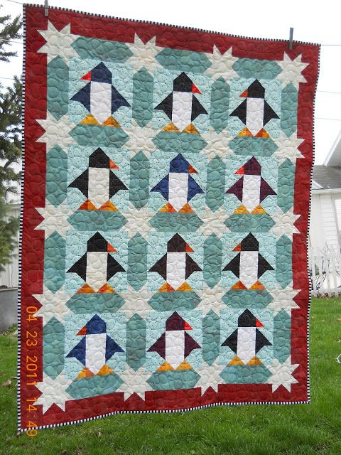 joe tulips quilts: two finishes.....