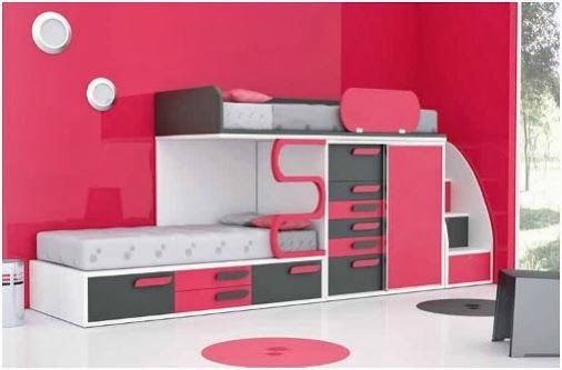 Dormitorio juvenil camas literas / Bunk Beds http://www.decorhaus.es/es/ #muebles #furniture #decoracion