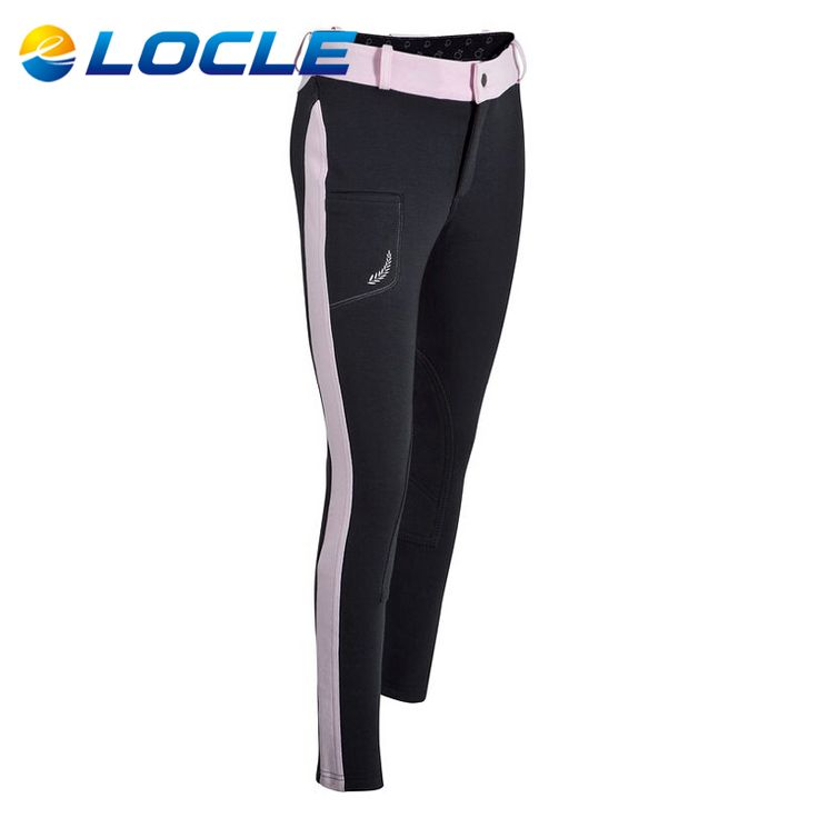 LOCLE Child Professional Horse Riding Breeches Horse Riding Chaps For Children Horse Riding Pants Girls Boys Equestrian Chaps