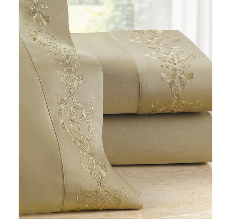 Buy Jeffrey Fisher 400 Thread Count 100% Egyptian Cotton Embroidered Sheet Set - 2 Pack, Jeffrey Fisher Home Collectionand Bedding Sets from The Shopping Channel, Canada's home shopping network-Online Shopping for Canadians #ILOVETOSHOP