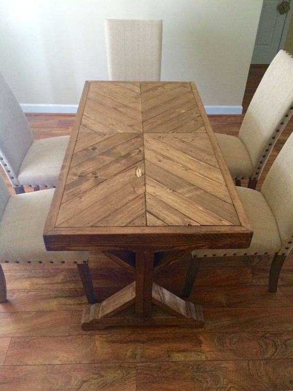 Handmade 100% wood farm house table that can be used as a small dinning table or a desk. This country style table will add charm and coziness to your home. Stain and table top design can be changed to the clients taste. We ship throughout the USA lower 48. Shipping costs can vary from $ 140*** to $ 220 depending on your location. ***EAST COAST  Pick up is FREE in Jacksonville, NC. Delivery can be arranged for a fee for town in a 150 mile radius.