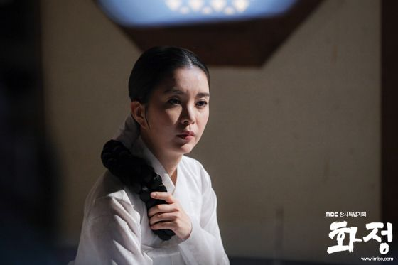 Shin Eun-jung as Queen Inmok in Splendid Politics (Hangul: 화정; hanja: 華政; RR…