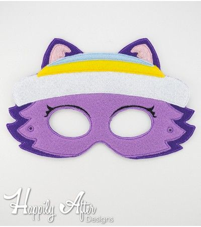 FREE Snow Husky Dog Mask ITH Embroidery Design - Great for Paw Patrol parties and Everest costumes!