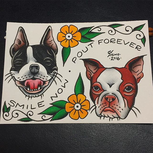 More Boston Terrier Tattoos from Cory Schofield