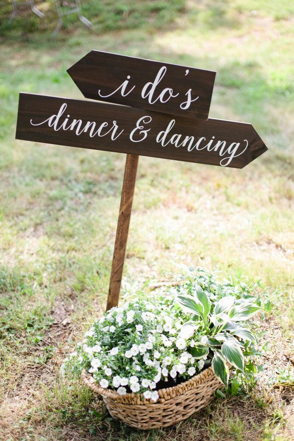 Rustic wedding sign: http://www.stylemepretty.com/tennessee-weddings/2016/01/18/elegant-farmhouse-wedding-in-tennessee/ | Photography: Morgan Trinker - http://morgantrinker.com/