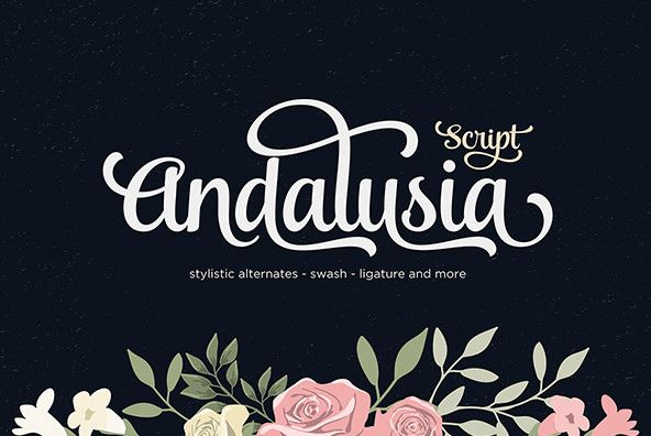 Andalusia Is A Romantic Typefaces Bold Elegant Fun