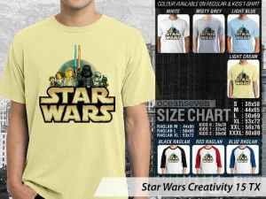Kaos Star Wars Stormtrooper, Kaos Star Wars Chewbacca, Kaos Star Wars Han Solo, Kaos Star Wars Light Saber