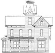 Plans de maisons miniatures - La Maison Victorienne | Maison victorienne, Plans de maison de ...