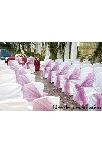 Noeud de chaise en Organza - Lucy Jeanne Collection - Décoration de Mariage