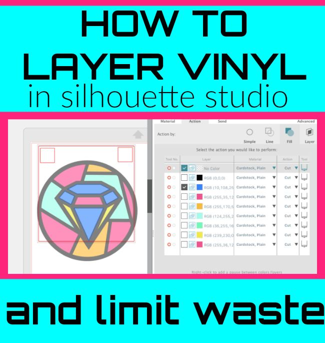 Last week I shared a video on Silhouette School's Facebook page showing how to layer vinyl using registration marks created in Silhouette Studio.  Despite the transparent vinyl which gave me all the h
