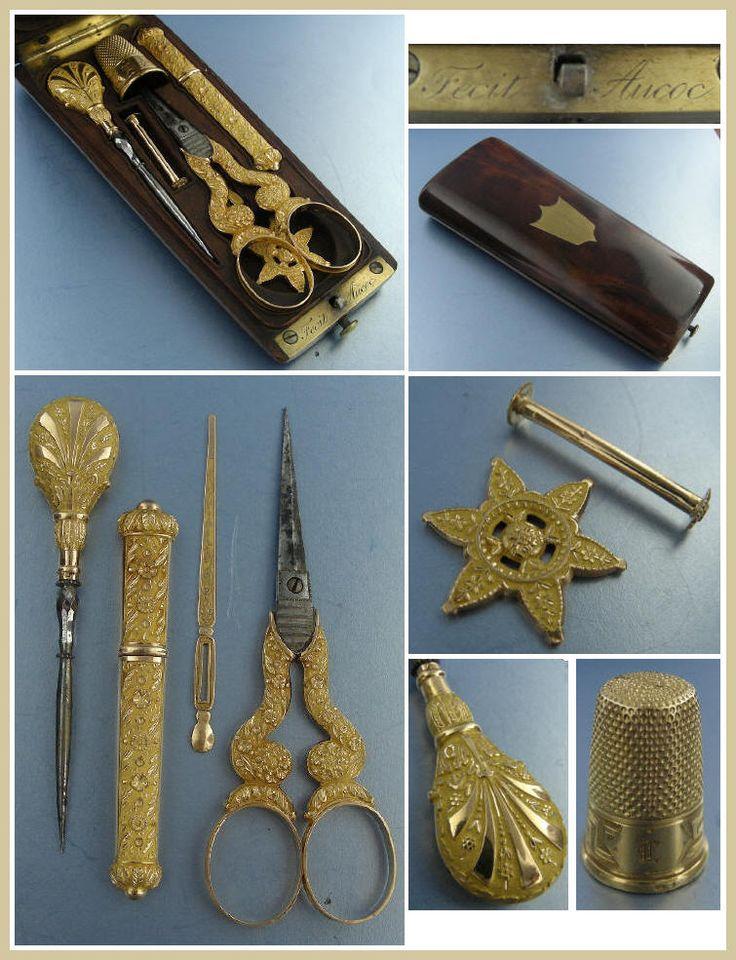 lady's antique necessaire | Старинные швейные принадлежности. 18-19 ...