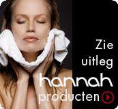 Hannah Skin Improvement ontwikkelt innovatieve huidproducten met als doel de beschadigde huid weer in balans te brengen. Ook wordt met de huidproducten van Hannah de huid opnieuw hersteld en wordt veroudering van de huid vertraagd.  Bekijk de producten in de webshop van Hannah en ontdek de toegevoegde waarde van de producten!