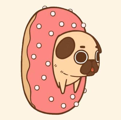 Donut Wallpaper Cute Imagen Relacionada Puglie Pug Идеи для рисунков
