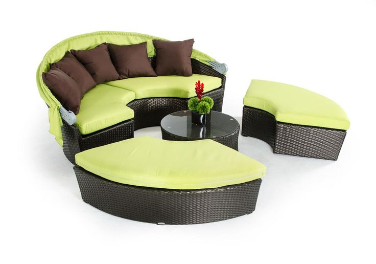 Renava Bari Outdoor Lime Green Sofa Set W/ Canopy. Distributed By VIG  Furniture.