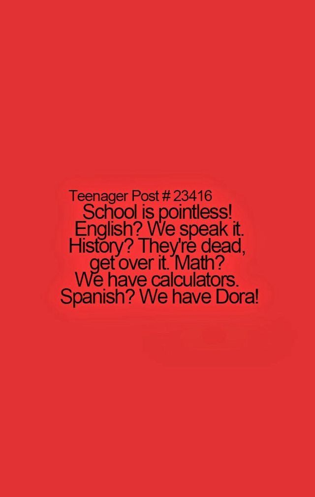 Sooooo true. Dora should be our Spanish teacher!!!