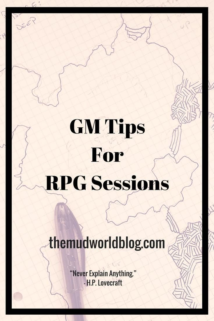 Gm Tips For Rpg Sessions Roleplaying Game Dungeons And Dragons Game Rpg