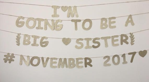 Big Sister or Brother Personalised Banner Birth