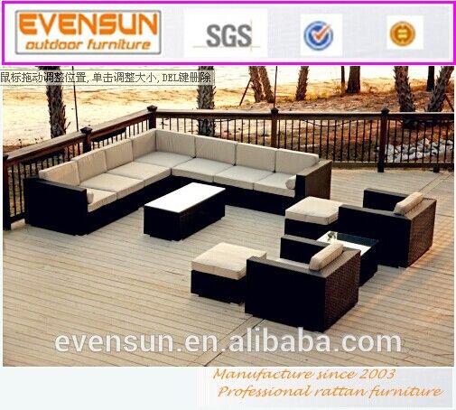 hotsale de mimbre de aluminio outdoor ratn sinttico muebles de patio
