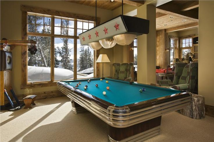 Classic Transitional Game Room by Jerry Locati