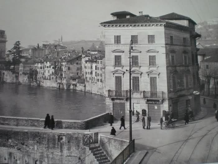 Riva S. Alessio prima delle demolizioni causa piena Adige http://goo.gl/nUvODG
