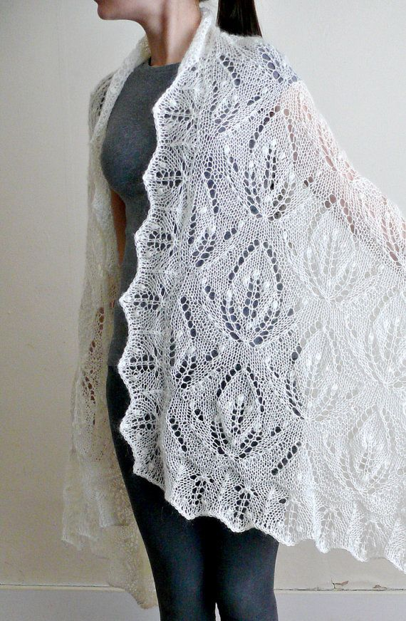 Stole by Lace Knit. Hand knitted lace stole / shawl / by LaceKnit