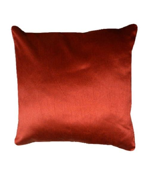 Faux Silk Deep/Red Cushion Cover – Linen and Bedding