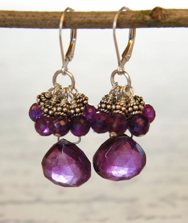 Luscious Amethyst Drops, $110.00 by Handmade Jewellery in Vancouver: Anne Carson Design
