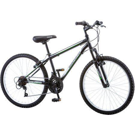 24 inch Roadmaster Granite Peak Boys' Mountain Bike, Black
